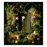 Communion Cup and Host, Encircled with a Garland of Fruit Lmina gicle por Jan Davidsz. de Heem