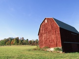 Barn in a field Photographic Print by Scott Barrow
