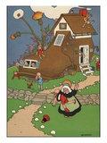 The Old Woman Who Lived in a Shoe Giclee Print by William Donahey