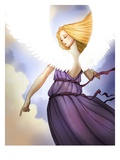 Angel Pointing Giclee Print by Harry Briggs