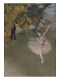 Dancer on the Stage Giclee Print by Edgar Degas