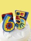 65 Birthday Cake Decorations Photographic Print