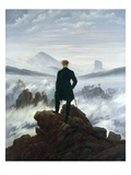 Wanderer Above the Sea of Fog Lmina gicle por Caspar David Friedrich