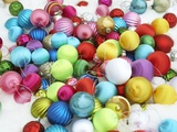 Colorful Christmas ornaments Photographic Print by Pauline St. Denis