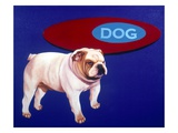 Bulldog Giclee Print by Michael Forbes