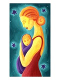 Mother and child Giclee Print by Vicky Emptage