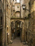 Medieval Street in Perugia Photographic Print by David Sutherland