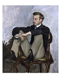 Portrait of Auguste Renoir Giclee Print by Frederic Bazille