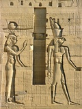 Detail of Isis and Horus from Sculptural Program of the Temple of Isis at Philae Photographic Print by Tibor Bognár
