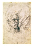 Head of a Man Shouting Giclee Print by  Michelangelo Buonarroti