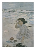 The Senses: Hearing Giclee-vedos tekijänä Jessie Willcox Smith