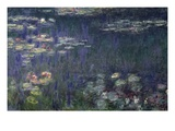 Waterlilies: Green Reflections Giclee Print by Claude Monet