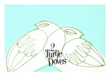 Two White Turtle Doves Giclee Print by Bill Brown
