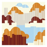 Cloud Pattern Giclee Print by Tristan Eaton