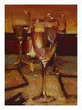 Wine Glasses, Paris Giclee Print by Pam Ingalls