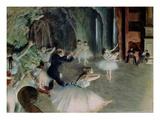 Balletttruppe übt auf der Bühne Giclée-Druck von Edgar Degas
