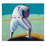 Pitcher Winding Up Giclee Print by Jud Guitteau