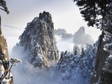 Huangshan Mountains in Winter Lmina fotogrfica por Frank Lukasseck