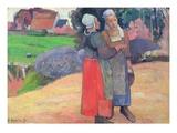 Breton Peasant Women Giclee Print by Paul Gauguin