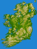 Topographic Image of Ireland Photographic Print