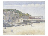 The Harbour and the Quays at Port-en-Bessin Giclee Print by Georges Seurat