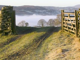 Frosty Early Morning Landscape Over Lake Windermere Photographic Print by Ashley Cooper