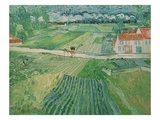 Landscape With Carriage and Train Giclee Print by Vincent van Gogh