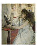 Young Woman Powdering her Face Giclee Print by Berthe Morisot