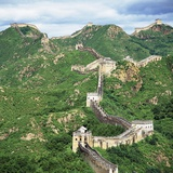 The Great Wall at Jinshanling Fotoprint van Li Shao Bai