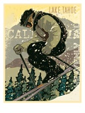 Man Skiing in Lake Tahoe Giclee Print by Bill Derrick