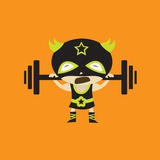 El Frijole Lifting Weights Giclee Print