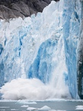 Icebergs Calving from Dawes Glacier in Alaska Photographic Print by Paul Souders