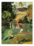 Landscape With Peacocks Stampa giclée di Paul Gauguin