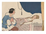 Illustration of Prince Charming Discovering Sleeping Beauty by Margaret Evans Price Giclee Print