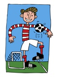 Soccer Player Giclee Print by John Paterson