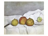 Fruit on a Cloth Giclee Print by Paul Cezanne