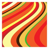 Retro Wave Pattern Giclee Print