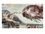 The Creation of Adam Giclee Print by  Michelangelo Buonarroti