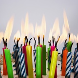 Burning Birthday Candles Photographic Print by  Beathan