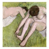 Two Bathers on the Grass Giclee Print by Edgar Degas