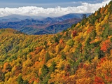 Appalachian Mountains in Autumn Photographic Print by Adam Jones