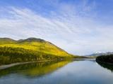 Liard River in Autumn Photographic Print by John Eastcott & Yva Momatiuk