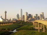 Dallas Skyline Photographic Print by Dana Hoff