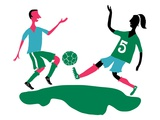 Soccer Players Giclee Print by Sarajo Frieden