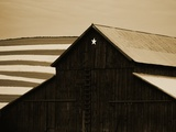 Old Barn with Star Photographic Print by Tom Marks