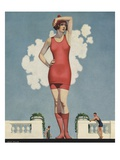 Illustration of Woman in Swimsuit by Coles Phillips Giclee Print