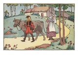 Illustration of Jack Leaving to Sell the Family Cow by Lois Lenski Giclee Print
