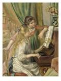 Young Girls at the Piano Reproduction procédé giclée par Pierre Auguste Renoir