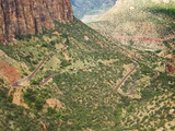 Winding Road in Zion National Park Photographic Print by Larry Lee
