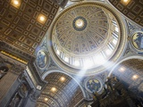 The Ceiling of St. Peter&#39;s Bascilica Photographic Print by Paul Hardy